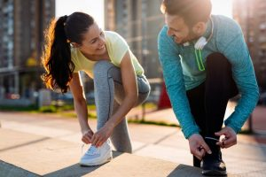 Healthy people ready to exercise