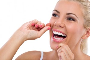 Flossing can keep your teeth looking and feeling healthy.